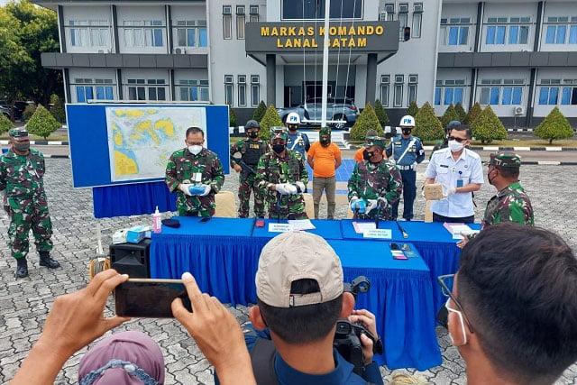 Lanal Batam Gagalkan Penyelundupan Narkoba Asal Malaysia