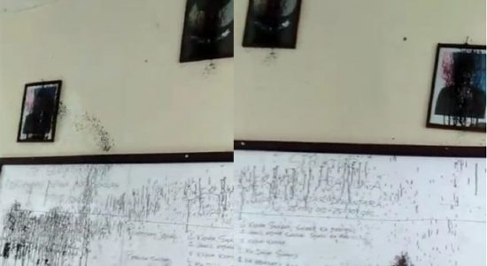 Foto Presiden, Wakil Presiden dan Garuda Pancasila Dirusak OTK