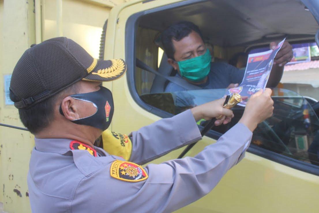 Pastikan May Day Kondusif, Polres Sergai Sekat Kendaraan Bermotor di Wilayah Perbatasan