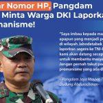 Sebar Nomor HP, Pangdam Jaya Minta Warga DKI Laporkan Premanisme