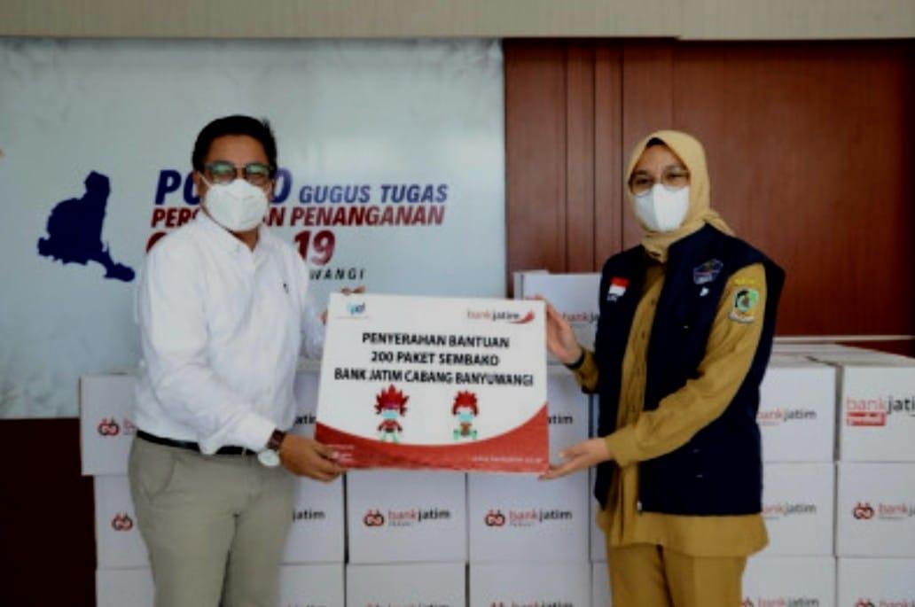 Dampak Pandemi, Bantuan Mengalir dari Pihak Swasta Kepada Pemda Banyuwangi